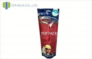 China Foil Printed Stand Up Pouches For Socks Packaging , Gravure Printing on sale