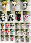New American big eyes colorful anti-real animal dog owl plush toy doll