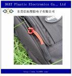 Extrator preto deslizamento-resistente por atacado do zíper do silicone para o sportwear do saco da bagagem do fato