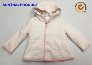 China Trendy Toddler Hooded Jacket , 100% Polyester 3 Layers Baby Girl Hooded Jacket on sale