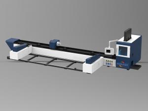 China 1000W Tube / Metal Fiber Laser Cutting Machine with Automatic Feeding on sale