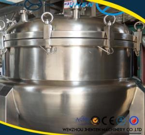 China 500L Stainless Steel Steam Jacketed Kettle With Agitator CE Approved on sale