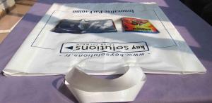 China Fashionable White Low Density Polyethylene Bags White Ribbon on sale