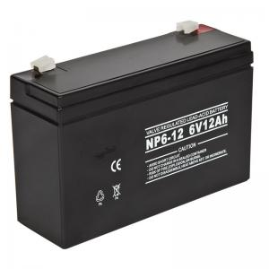 China 6volt 12AH Rechargeable Sealed Lead Acid Battery Maintenance free for Security System on sale