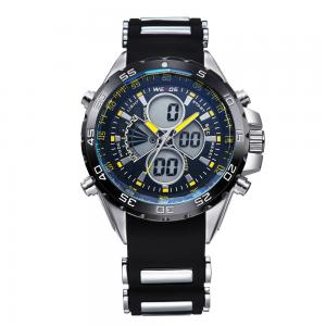 China WH-1103yellow multi-function army watch,mechanical watch retro style double show man watch on sale