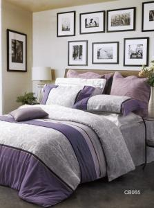 China Dandelion Design Cotton Bed Set For Home Purple Single Queen and King on sale