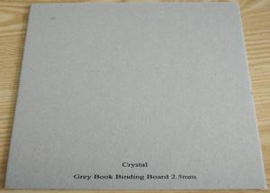 Quality Recycled Stiffness Paper Hard 1250gsm Solid Grey Paperboard for Matte Book Cover for sale