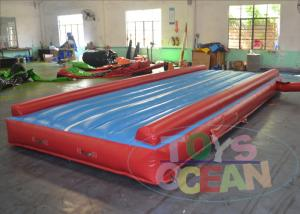 China Blue Exercise Inflatable Gymnastics Equipment Tumble Track For Sports Center on sale