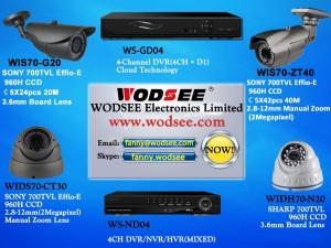 China CCTV (Analog, IP, PTZ Camera, DVR, NVR) on sale