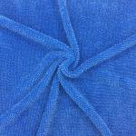 Microfiber Twist Pile Fabric 450gsm Blue Mop Fabric Cleaning Fabric