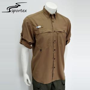 China Slim Comfortable Polyester Fishing Shirts , Quick Dry Dress Shirts L - XXL Sizes on sale