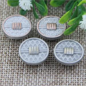 China 2018 Explosion models spiral high-grade anti brass color alloy 17 mm jeans buttons for apparel accessories on sale