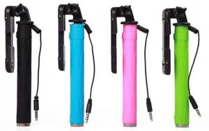 China Wire selfie stick for mobilephones cable monopod on sale
