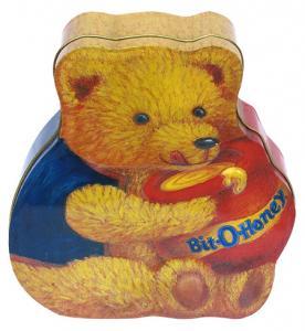 China Envases de encargo del caramelo de la lata, caja de empaquetado Oso-Formada del caramelo on sale