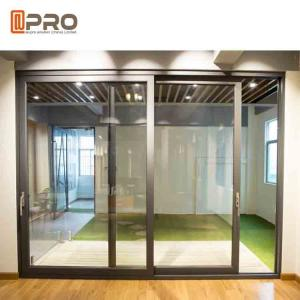 China Durable Aluminium Sliding Glass Doors Anodized Surface Finishing Sliver Color pocket slide door,room sliding door cheap on sale