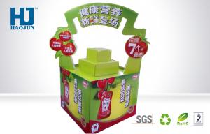 China Four Color Customized Foldable  Printed Corrugated Dump Bin Display For Drinking Promotion on sale