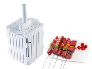 China White BBQ Small Kitchen Tools Kebab Maker Box 17 * 17 * 20cm Non Stick on sale