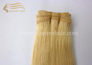 China Top Quality Hair Grade 26 Inch Long Gloden Blonde #613 Remy Human Hair Weft Extensions 100 Gram For Sale supplier
