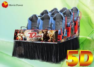China Air injection / Leg sweep Dynamic 4d 5D Movie Theater VR simulator on sale
