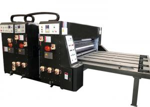 China Water Ink Printing Slotting Die Cutting Machine Semi Automatic Grade For Carton Box on sale