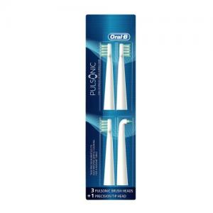 China Oral-B Pulsonic Replacement Electric Toothbrush Head 4 Count on sale