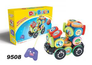 China Remote Control DIY Children's Toys Building Bricks With Music And Gear Roration on sale