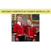 Winter Cotton Knitting Red Students School Uniforms , Teen School Girl Uniforms