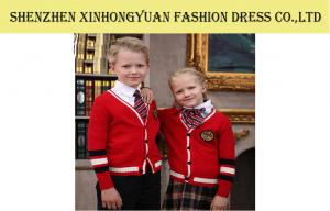 China Winter Cotton Knitting Red Students School Uniforms , Teen School Girl Uniforms on sale
