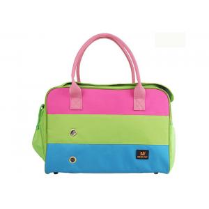 China Stripe Pet Carrier Bag Carry on Pet Carrier Quality Dog Totes for Small Dogs on sale