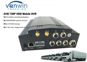 China HDD 4ch Hybrid MDVR 3G 4G GPS WIFI free software CMS with LCD screen for school bus / taxi / truck on sale