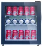 Direct Cooling Beverage Cooler Refrigerator , 48L Low Noise Mini Display Fridge