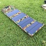 7W Mini Solar Panel Cell Phone Charger,5V Outdoor Portable Solar Energy Powered Phone Charger