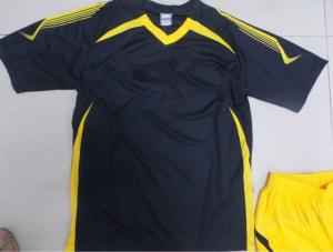 China Customized S 100% polyester Soccer Team Apparel Black Soccer t Shirts on sale