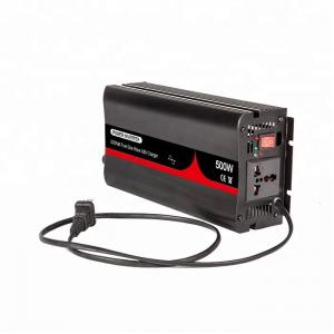 China 500 Watt Rechargeable Car Power Inverter Charger 12V 24V 48V DC For Home on sale