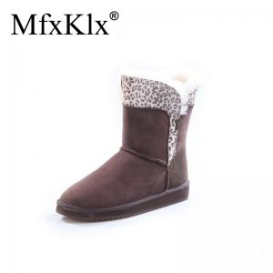 China double face cheap and fancy ankle boots for women Australian Shearling sheepskin Snow Boots Women Winter Warm Ankle on sale
