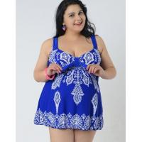 XXXXL Size  printing two piece dresskini  fashion plus-size swimwear