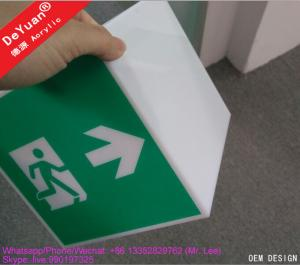 China Guide Hang Box Building Acrylic Display Stands Public Accasion 17x17x17cm on sale