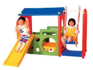 China Garden Play Equipment Outdoor Plastic Toy for Kids with Swing A-19409 on sale