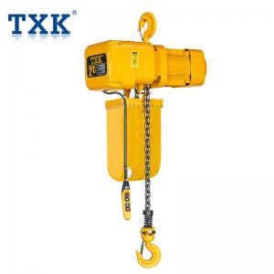 China Hook Lifting 2 Ton Electric Chain Hoist  ISO Certification With IP65 Push Button Overload Limiter on sale