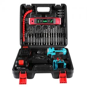 China 25pcs  bits cordless drill power tool set  21V battery  flexible hex shaft on sale