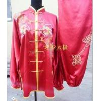 red kungfu clothing with dragon for men