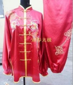 China red kungfu clothing with dragon for men on sale