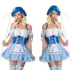 China Walmart halloween costumes holloween costume bule lace costumes on sale