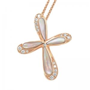China Crystal Fashion Jewelry Pendants Mother Of Pearl Pendant With Rose Gold on sale