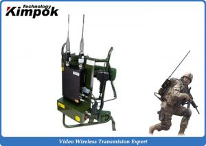 China Military Backpack Digital Video Transimtter 720P COFDM Wireless Video System 10 Watt on sale