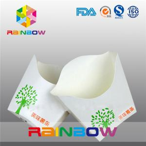 China Fold Down Small French Fries Packaging Box Recycle , Eco Friendly on sale