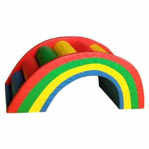 China Fashionable Childrens Soft Play Equipment / Soft Play Rainbow Bridge Easy Install on sale