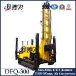 China 300m Depth DTH Rock Water Well Drilling Rig, DFQ-300 Drilling Rig Machine Air Compressor wholesale