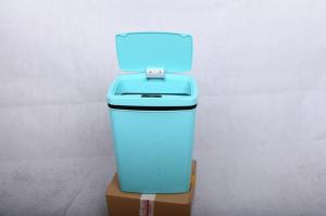 China CE Appoved Intelligent Trash Can 12L Blue Battery Operated For Home Office on sale