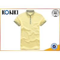 Knitted Technics Boys Short Sleeve Button Down Polo Shirts For Summer